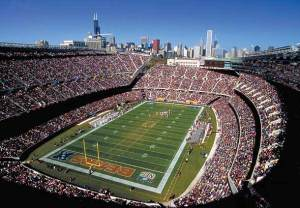 Soldier Field is a historic landmark, as well as home to the Chicago Bears Photo from marriot.com